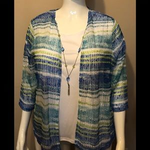 Womens Alfred Dunner top size 1X